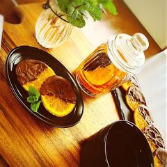 お菓子つくり/至福のひととき/ひとり時間/おうちカフェ/オレンジ /おうち時間/... 🍊オランジェット作ってみましたw  食べ…
