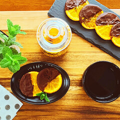 お菓子つくり/至福のひととき/ひとり時間/おうちカフェ/オレンジ/おうち時間/... 🍊オランジェット作ってみましたw  食べ…(2枚目)