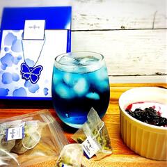 おうち時間/アラフォー主婦/副作用/ダイエット/美容と健康/青いお茶/...  🔷Butterfly pea🔷  青い…