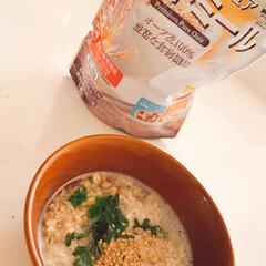 日食 プレミアムピュア オートミール 300g袋 オートミール 食べやすい 朝食 シリアル オーツ麦 食物繊維 B 新生活応援(バランス栄養、栄養調整食品)を使ったクチコミ「ランチタイム🍚🥢 食物繊維が豊富なオート…」