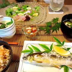 アラフォー主婦/ゆっくりごはん/はなきん/和食ごはん/今夜の食卓/おうちごはん/...   今夜の食卓は和食🥢  タコ飯食べたく…
