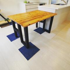 オーダー家具/手作り家具/手造り家具/インテリア/ダイニングテーブル モデルルーム用 折りたたみ、カウンターテ…