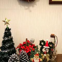 ASOKO/ディズニーストア/クリスマス2019/ダイソー/雑貨/フォロー大歓迎 とりあえず玄関だけやっとクリスマス✨🎄✨