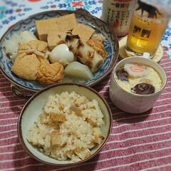 茶碗蒸し/お餅/リメイク/おでん/お家ごはん ゆうべのおでん🍢リメイクでおでんご飯と茶…
