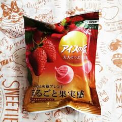 おやつ/アイスの実/イチゴ イチゴ味🍓が出てくると 冬って感じがしま…