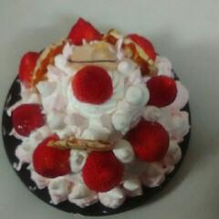 クリスマス/手作り/COOKPAD/2018/冬/おうち/... 今年のクリスマスデコデコケーキをつくりま…