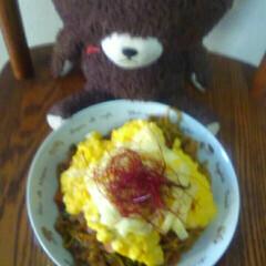 COOKPAD/焼きそばとろとろの卵/フォロー大歓迎/冬/おうち/ごはん/... ボケててすいません‼でも思ったより美味し…