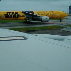 スターウォーズの全日空/フォロー大歓迎/LIMIAおでかけ部/おでかけ/旅行/風景/... 最後は、飛行機からの最後です、スターウォ…