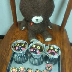 バレンタイン私にごほうび/COOKPAD/LIMIAごはんクラブ/フォロー大歓迎/ハンドメイド/猫/... カップケーキの猫ちゃんです‼後はうふふチ…