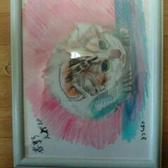 展覧会/あけおめ/フォロー大歓迎/冬/おうち/猫/... 猫を描きましたです🎵😅さっとかきましたよ…