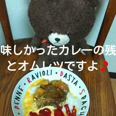 トマトのサラダ/残りのカレー/オムレツ/平成最後の一枚/春のフォト投稿キャンペーン/LIMIAごはんクラブ/... カレーの残りを食べて、オムレツとトマトの…