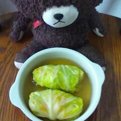 トマトのサラダ/味噌汁/ロールキャベツ/フォロー大歓迎/GW/LIMIAごはんクラブ/... 今日は、ロールキャベツを作りました‼美味…