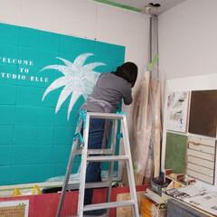 DIY/スタジオ・エル/DIYエル・マルシェ/フェスタ/フェス/マルシェ/... マルシェに向けて壁面もリニューアル♪  …