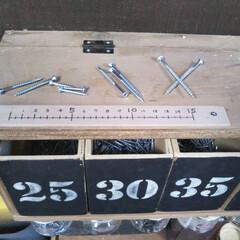 壁面収納/ビス/ものさし/収納/長さ/長さ別/... スタッフのhanaさんがものさしを設置し…