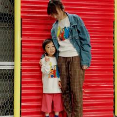 親子コーデ/おそろい/ユニクロコーデ/ユニクロ/キッズファッション/リンクコーデ/... 160cmが着れました♡ おそろい😀 ユ…
