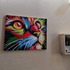 テサ パワーストリップ 高さ調節キャンバスフック | テサ  (ウォールフック)を使ったクチコミ「お正月に時間があったので、パズル油絵に挑…」