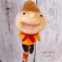 羊毛フェルト/手芸/手作り/オリジナル/ハンドメイド/雑貨/... おだんごヘアーの おじょーちゃん♪