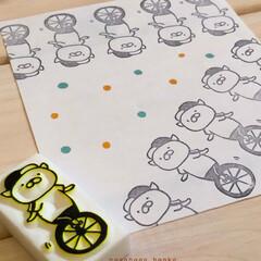 手作り/手芸/消しゴムはんこ/雑貨/DIY/ハンドメイド/... いっぱい捺すと 楽しい感じになりやすー。
