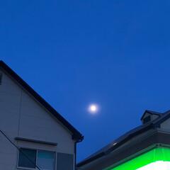 仕事帰り/風景 今夜の夜空を見上げてみて、パチリ📸しまし…