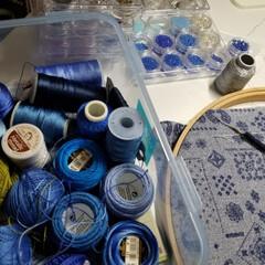刺繍糸/趣味の部屋 アリワーク刺繍で使うビーズと、 ボンジュ…