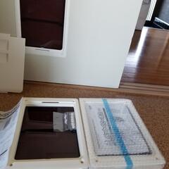 クッションフロア/ペットドア/犬と暮らす 大屋さんの許可を得て ペットドアを設置🐶…