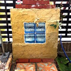 ガーデン/庭/立水栓/DIY/住まい/建築 立水栓をDIYで作りました。 元々は別の…