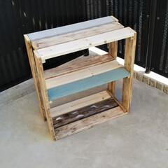 棚DIY/ラックDIY/DIY/100均/セリア/家具/... ホームベーカリーをいただいたんですが、置…