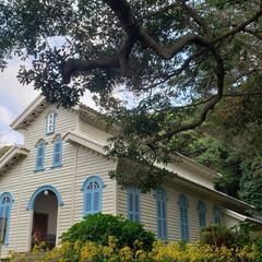 五島列島/教会/世界遺産/おでかけ 長崎県五島列島にある世界遺産の教会です。…