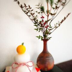 お正月飾り 初挑戦✨ 羊毛フェルトで鏡餅作りました~