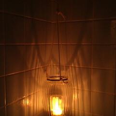 灯り/キャンドル/300均/ランタン/お風呂 風鈴ハウス、お風呂電球を撤去してキャンド…