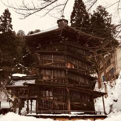 寒いっ/会津/雪 さざえ堂