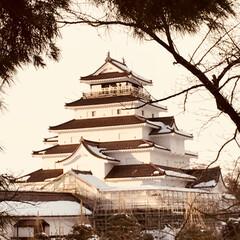 雪/会津/お城 鶴ヶ城