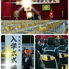 新生活/入学式/春のフォト投稿キャンペーン 本日娘の中学校入学式でした🎵  緊張した…