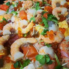 ちらし寿司/ひな祭り 今年もちらし寿司作りました😁  娘も喜ん…