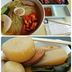 おでん/冷麺/焼き肉/フード/グルメ ランチに盛岡名物冷麺🎵モチモチの麺が美味…