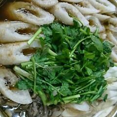 晩御飯/秋田の冬の名物/きりたんぽ鍋 こんばんは~🌃  今夜はきりたんぽ鍋🍲で…(1枚目)