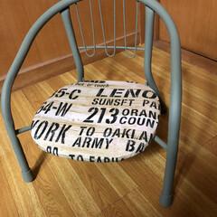 簡単リメイク/子ども/椅子 子ども用の椅子をリメイクしました。  リ…