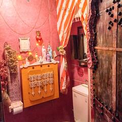 100均リメイク/DIY/多国籍インテリア/インド/モロッコ/モロッカン/... My toilet decor diy …