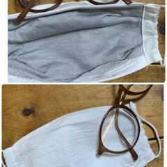 夏マスク/枕カバー/ニトリ 夏用マスク!  肌触れ少なめ。 メガネ対…