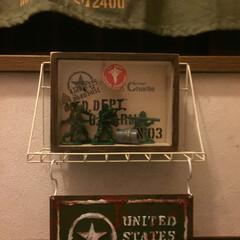 アメリカン雑貨/アメリカン/セリア U.S.ARMYディスプレイ。