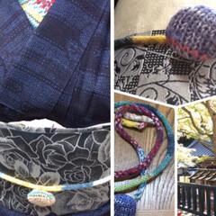 帯留め/帯締め/和風小物/リミアな暮らし 👘ニットな和風小物を、作りました。 (帯…