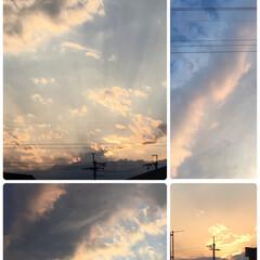 天使の階段/夕焼け 🌇綺麗な夕焼け😊✨  晩ご飯を作らないと…(1枚目)