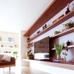 nankaiplywood/収納生活/収納/建材/内装材/リフォーム/... 幅4Mもあるロングワイドなテレビボード。…