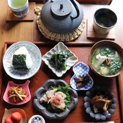 食卓/朝ごはん/LIMIAごはんクラブ/わたしのごはん/グルメ/フード/... 朝ごはん 豆皿にチョコチョコ色んなモノを…