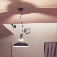 掛時計/かげ/照明/ホーロー