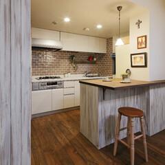 マンション リフォーム済のキッチンはまだ新しく、既存…