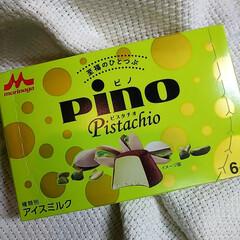 アイス/森永/ピノ  ピスタチオ/pino/ピスタチオ また見つけたー  大好きなピスタチオのや…(1枚目)