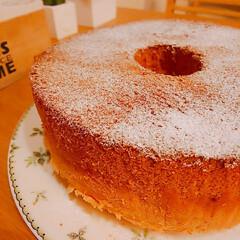 おうちカフェ/手作りシフォンケーキ/シフォンケーキ/手作りおやつ シフォンケーキ  いっつも失敗するやつ(…