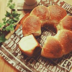 ホームベーカリー/ちぎりパン/手作りぱん おはようございます  ちぎりパン 焼き上…