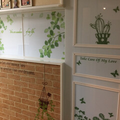 引き戸DIY キッチンへの入り口にもカーテンレールを使…